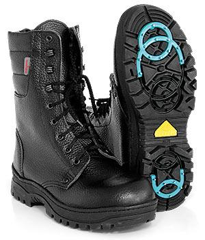 Ботинки альпы высокие кожаные на